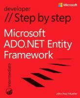 Microsoft ADO.NET Entity Framework Step by Step