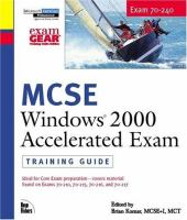 MCSE Windows 2000 Accelerated Exam