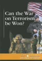 Can The War On Terrorism Be Won?
