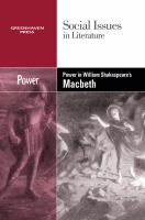 Power in William Shakespeare's Macbeth