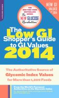 The New Glucose Revolution Low GI Shopper's Guide to GI Values