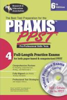 The Best Teacher's Test Preparation for the  Praxis, PPST, Pre-professional Skills Tests