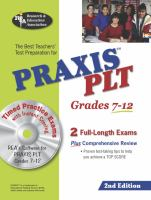 The Best Teachers' Test Preparation for Praxis PLT, Grades 7-12