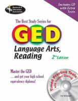 The Best Study Series for GED Language Arts, Reading