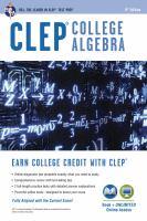CLEP College Algebra [2014]