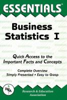 The Essentials of Business Statistics I
