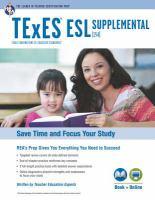 Texas Texes Esl Supplemental (154) W/online Practice