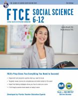 FTCE Social Science 6-12 (037) Book + Online