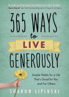 365 Ways to Live Generously