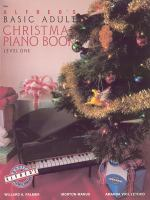 Alfred's Basic Adult Christmas Piano Book
