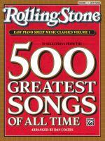 Rolling Stone Easy Piano Sheet Music Classics Volume 1