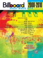 Billboard Sheet Music Hits