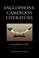 Anglophone-Cameroon Literature