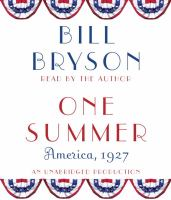One summer [audiodisc] : [America, 1927]