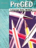 Steck-Vaughn PreGED Language Arts, Writing