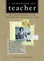 I Remember My Teacher