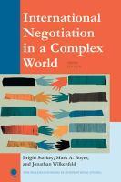 International Negotiation in A Complex World