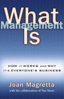 What Management Is
