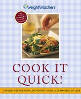 Weight Watchers Cook It Quick!