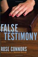 False Testimony