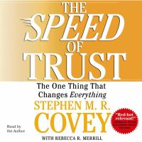 The Speed of Trust