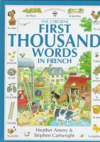 The Usborne First Thousand Words In French