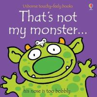 That's not my monster--