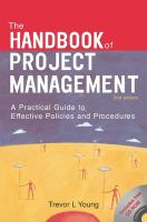 Handbook of Project Management