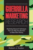 Guerrilla Marketing Research