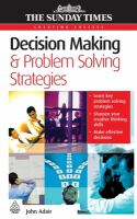 Decision Making & Problem Solving Strategies