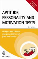 Aptitude, Personality and Motivation Tests