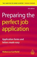 Preparing The Perfect Job Application