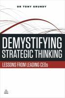 Demystifying Strategic Thinking