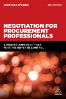 Negotiation for Procurement Professionals, Second Edition
