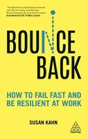 Bounce back : how to fail fast and be resilient at work