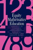 Equity in Mathematics Education