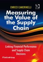 Measuring the Value of the Supply Chain