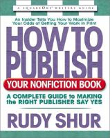 How to Publish your Nonfiction Book