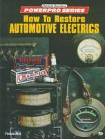 How To Restore Automotive Electrics