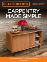 Carpentry Made Simple