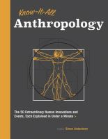 Know-it-all Anthropology
