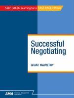 Successful Negotiating