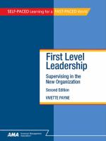First-level Leadership