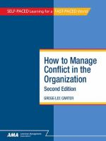 How to Manage Conflict in the Organization