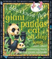 I Didn't Know That Giant Pandas Eat All Day Long