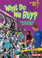 What Do We Buy?