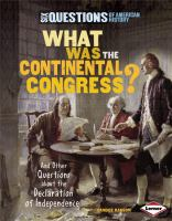 What Was the Continental Congress?