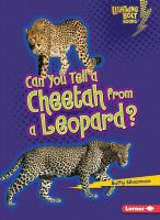 Can You Tell A Cheetah From A Leopard?