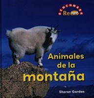 Animales de la montaña