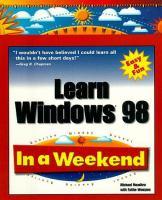 Learn Windows 98 in A Weekend
